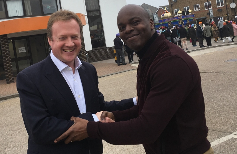 GLA Candidate Gregory Stafford with London Mayoral Candidate Shaun Bailey